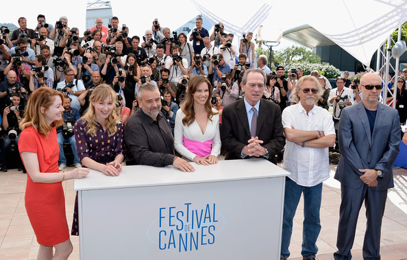 """""""The Homesman"""" Photocall - The 67th Annual Cannes Film Festival [the homesman photocall,people,event,community,youth,crowd,team,tourism,employment,city,miranda otto,luc besson,actors,producers,hilary swank,sonja richter,l-r,photocall,cannes film festival]"""