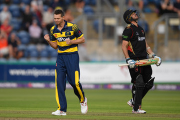 Michael Hogan Glamorgan v Leicestershire Foxes - NatWest T20 Blast Quarter-Final
