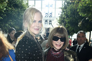 Nicole Kidman and Anna Wintour attend the Michael Kors Collection Spring 2020 Runway Show on September 11, 2019 in Brooklyn City.