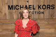 Valeria Bruni Tedeschi attends the Michael Kors FW20 Runway Show on February 12, 2020 in New York City.