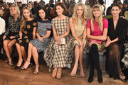 (L-R) Alexandra Richards, Harley Viera-Newton, Leigh Lezark, Hanneli Mustaparta, Poppy Delevingne, Jessica Hart, and Lily Aldridge attend the Michael Kors fashion show during Mercedes-Benz Fashion Week Fall 2015 . at Spring Studios on February 18, 2015 in New York City.