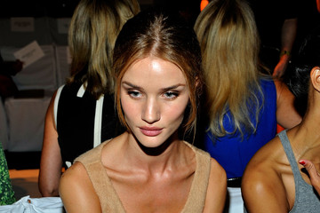 Model Rosie Huntington-Whiteley Michael Kors - Front Row - Spring 2012 Mercedes-Benz Fashion Week