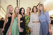 (L-R) Alexandra Richards, Harley Viera-Newton, Leigh Lezark, Poppy Delevingne, Hanneli Mustaparta and Jessica Hart attend the Michael Kors Miranda Eyewear Collection Event on February 18, 2015 in New York City.