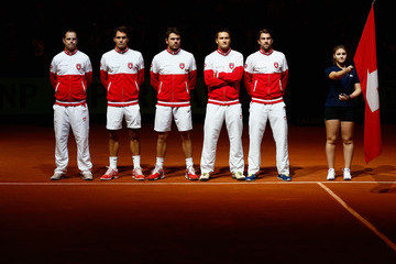 Michael Lammer France v Switzerland - Davis Cup World Group Final: Day Two