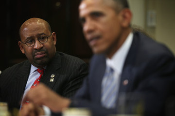 Michael Nutter Obama Meets With Local Elected Officials And Small Business Exporters