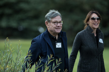 Michael Ovitz Tech and Media Elites Attend Allen and Company Annual Meetings in Idaho