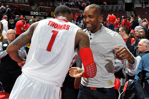 Michigan v Ohio State [product,muscle,crowd,event,championship,fan,sport venue,basketball player,sports,referee,michael redd,deshaun thomas 1,v,value city arena,ohio,columbus,ohio state,michigan,ohio state buckeyes,nba]