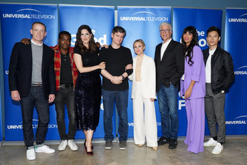 Michael Schur D'Arcy Carden Universal Television's FYC @ UCB - 'The Good Place'