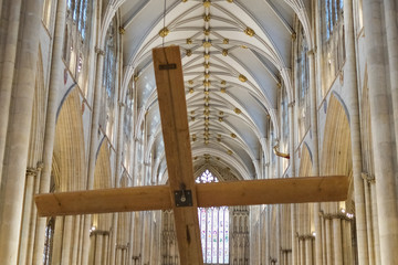 Michael Smith Lent Cross Is Raised at York Minster
