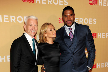 Michael Strahan Kelly Ripa Arrivals at the CNN Heroes Event