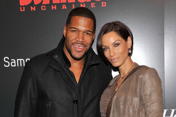 Michael Strahan Nicole Murphy Celebs at a Screening of 'Django Unchained'