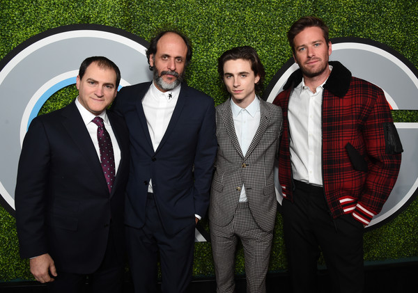 2017 GQ Men of the Year Party - Arrivals [photo,suit,social group,formal wear,event,tuxedo,team,photography,arrivals,michael stuhlbarg,timothee chalamet,luca guadagnino,armie hammer,l-r,caption,gq men of the year party,party,armie hammer,michael stuhlbarg,timoth\u00e9e chalamet,luca guadagnino,call me by your name,gq men of the year,2017 toronto international film festival,2017,gq,aacta awards]