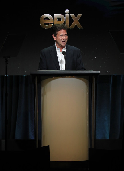 2019 Summer Television Critics Association Press Tour - Day 5 [public speaking,projection screen,lighting,suit,formal wear,presentation,speech,technology,event,orator,michael wright,stage,beverly hills,california,the beverly hilton hotel,summer tca press,epix,segment]