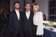 Manuel Bogliolo, Andrea Incontri and Gaia Trussardi attend Michel Comte, Black Light White Light Opening at Triennale di Milano on November 27, 2017 in Milan, Italy.