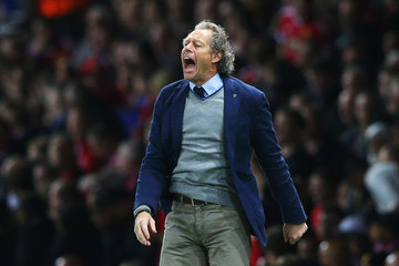 Michel Preud'homme Manchester United v Club Brugge - UEFA Champions League: Qualifying Round Play Off First Leg