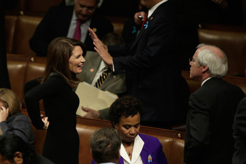 Michele Bachmann Barack Obama Delivers State of the Union Address