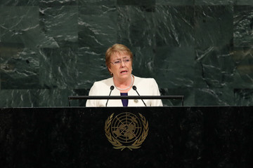 Michelle Bachelet World Leaders Address Annual United Nations General Assembly