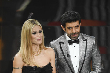 Michelle Hunziker Pierfrancesco Favino Sanremo 2018 - Day 4