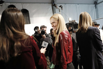 Michelle Hunziker Trussardi - Backstage - Milan Fashion Week Fall/Winter 2017/18