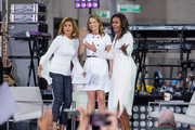 Hoda Kotb, Savannah Guthrie and Michelle Obama on stage during NBC's 'Today' Celebrates The International Day Of The Girl at Rockefeller Plaza on October 11, 2018 in New York City.