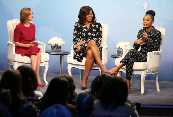 "Glamour Hosts ""A Brighter Future: A Global Conversation on Girls' Education"" With First Lady Michelle Obama"