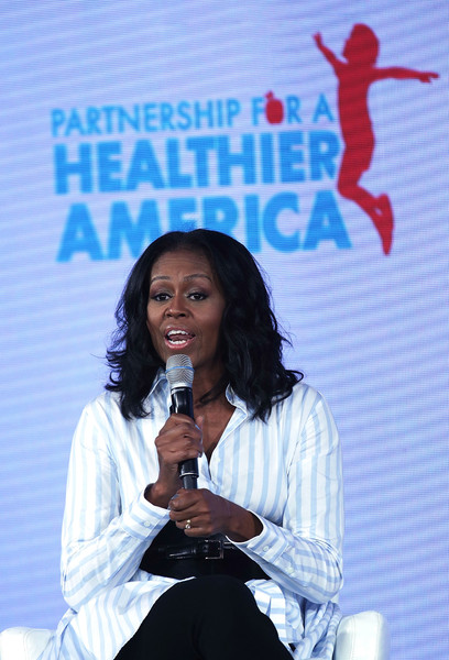 Former First Lady Michelle Obama Speaks at the Partnership for a Healthier America Summit [talent show,speech,public speaking,singer,orator,michelle obama,childhood obesity,washington dc,partnership for a healthier america summit,pha,summit]
