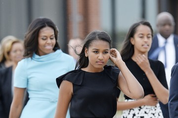 Michelle Obama Sasha Obama Pope Francis Arrives From Cuba For Visit To D.C., New York, And Philadelphia