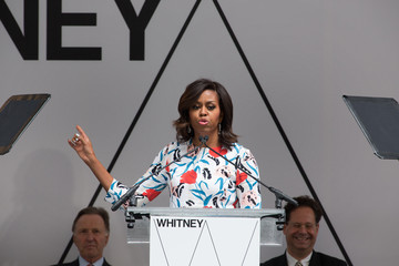 Michelle Obama Michelle Obama Attends Dedication Ceremony For New Whitney Museum