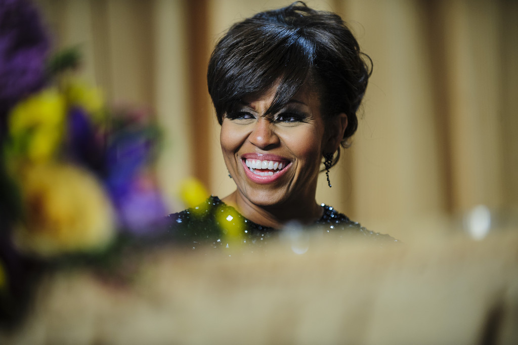 President Obama Pulls a Michelle, Rocks Bangs