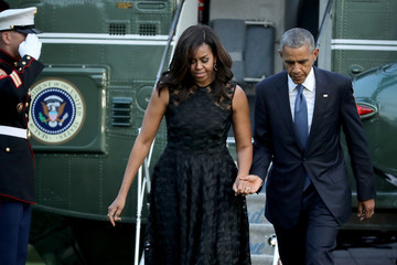 Michelle Obama President and Mrs. Obama Return to the White House
