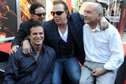 John Enos, Producer Mark Canton, actor Mickey Rourke and producer Gianni Nunnari attend Micky Rourke's Hand and Footprint Ceremony held at Grauman's Chinese Theatre on October 31, 2011 in Hollywood, California.