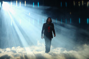 """Actor Keanu Reeves walks on stage to speak about """"Cyberpunk 2077"""" from developer CD Projekt Red during the Xbox E3 2019 Briefing at The Microsoft Theater on June 09, 2019 in Los Angeles, California."""