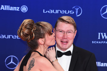 Mika Hakkinen Red Carpet - 2017 Laureus World Sports Awards - Monaco