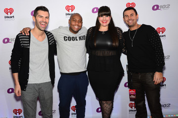 Mike Adam Backstage at the Q102's Jingle Ball