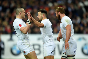 Mike Brown Danny Care France v England - RBS Six Nations
