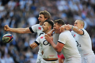 Mike Brown Danny Care England v Wales - RBS Six Nations