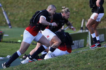 Mike Brown Jack Nowell England Training Session