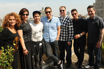 Mike Chester Pete Wentz Visits the Elvis Duran Offices