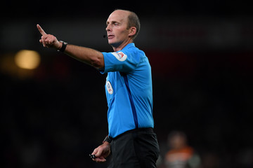 Mike Dean Arsenal v Brentford - Carabao Cup Third Round