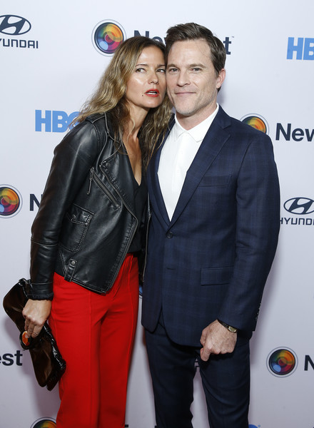 """""""Sell By"""" - NewFest Film Festival Opening Night [premiere,suit,event,outerwear,carpet,smile,flooring,mike doyle,jill henessy,sell by,new york city,sva theater,newfest film festival opening night,screening]"""
