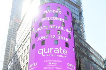 Mike George Jamie Kern Lima Qurate Retail Group Opening Bell Ceremony At Nasdaq MarketSite
