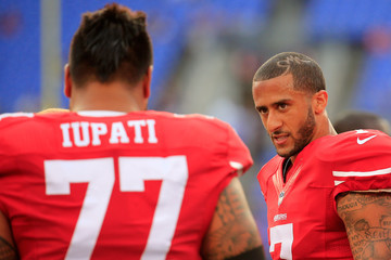 Mike Iupati San Francisco 49ers v Baltimore Ravens