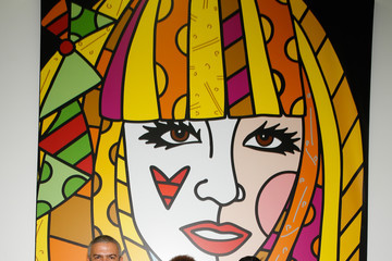Mike Kalwani Hublot Global CEO Ricardo Guadalupe Visits Romero Britto Studio With Haute Living