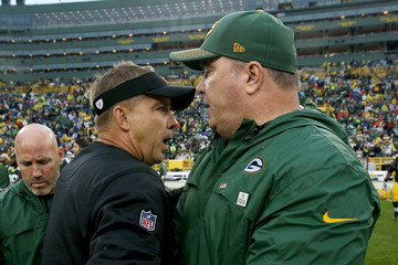 Mike McCarthy New Orleans Saints vGreen Bay Packers