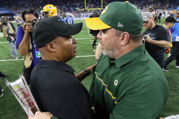 Mike McCarthy Green Bay Packers v Detroit Lions