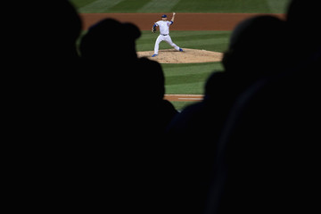 Mike Montgomery World Series - Cleveland Indians v Chicago Cubs - Game Three