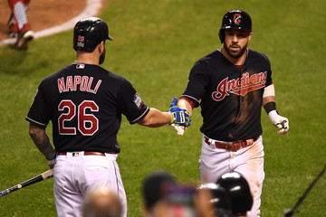Mike Napoli World Series - Chicago Cubs v Cleveland Indians - Game Six