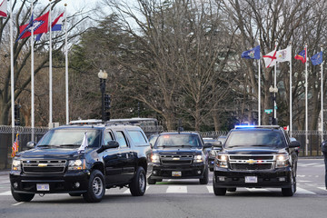 Mike Pence Heavily Guarded Nation's Capital Hosts Presidential Inauguration