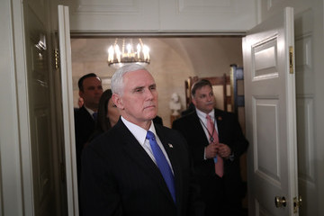 Mike Pence Trump Addresses the Nation After School Shooting in Florida That Killed 17