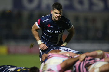 Mike Phillips Sale Sharks v Cardiff Blues - Anglo-Welsh Cup